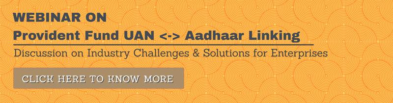 Webinar Aadhar UAN Linking